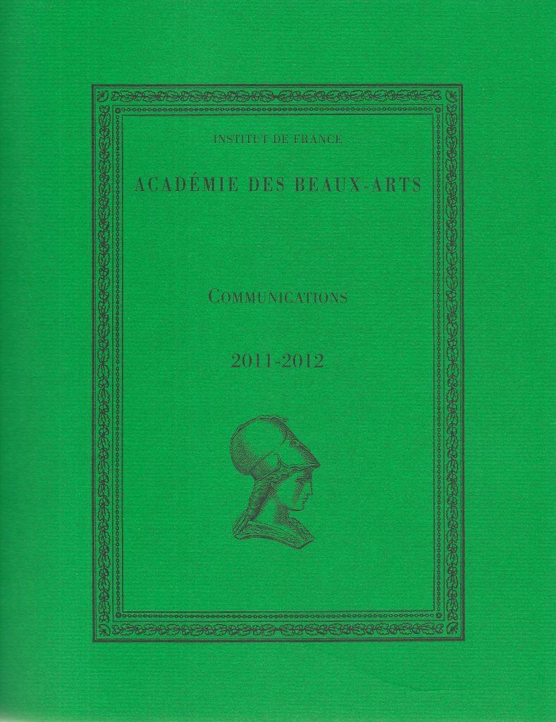 Couverture d'ouvrage: ACADÉMIE DES BEAUX ARTS
